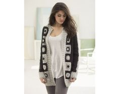 Graphic Statement Cardigan (Crochet)