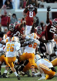 alabama+football | Alabama defensive lineman Terrence Cody (62), left, blocks a field ...