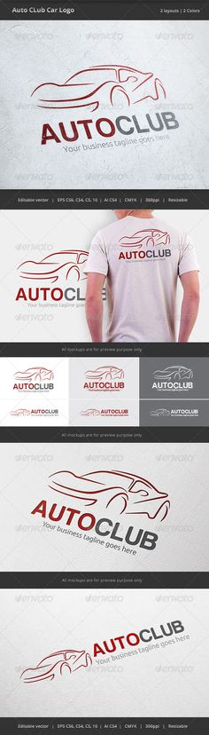 Auto Club Car  - Logo Design Template Vector #logotype Download it here: http://graphicriver.net/item/auto-club-car-logo/6568679?s_rank=324?ref=nexion