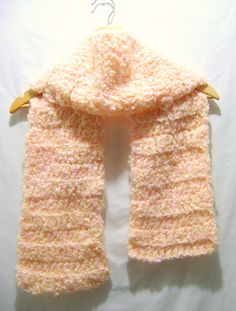 Pastel Yellow and Pink Multi Crochet Scarf by BenitaMarie on Etsy