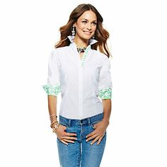 Love this Signature Fit Shirt for $68 on C. Wonder - would love this, monogrammed!
