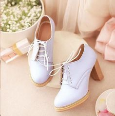 "Kawaii Sweet Student heels! Use code ""usagibun"" for 10% off your order!"
