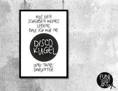 """DISCOKUGEL"" | typo poster | size L"