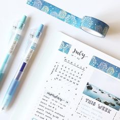 """Polubienia: 1,454, komentarze: 54 – 「 bullet journal; notes 」 (@studychoa) na Instagramie: """" ive got the monday blues hahahah get it bc its monday and my spread is blue AHAHAHAH please laugh…"""""""