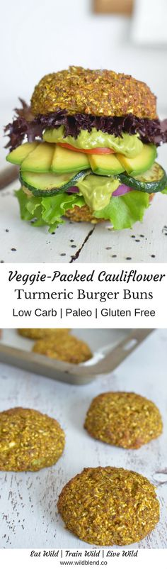 These healthy low-carb cauliflower buns answer all your burger cravings while still keeping it deliciously gluten-free. This veggie-packed alternative to traditional burger buns is totally flour-free, and surprisingly light and fluffy. Get the recipe here: http://www.wildblend.co/single-post/2017/04/16/Cauliflower-Turmeric-Burger-Buns