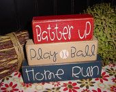 I promised Kris our Boy can have a baseball room.:) VINTAGE baseball though. Baby Boy Rooms, Baby Boy Nurseries, Baseball Nursery, Baseball Bathroom Decor, All You Need Is, Baseball Birthday Party, Maila, Room Themes, Wood Signs