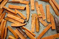 Baked Sweet Potato Fries with Lime Zest.