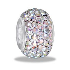 DaVinci Large Crystal Encrusted Bead for Charm and Bead Necklaces or Bracelets