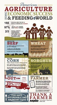 Thank a farmer! Ag Infographic