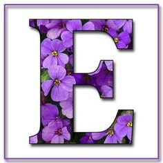 E Alphabet Purple