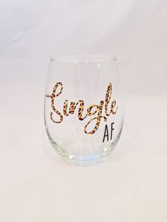 Items similar to Single AF - Stemless Wine Glass - Valentine's Day on Etsy Mean Girls Humor, Wine By The Glass, Single Af, Tumbler Photos, Valentines Day, Glasses, Hand Washing, Dishwasher, Choices