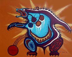 Medicine Bear by Ojibwe Medicine Painter Carl Ray Native American Artists, Canadian Artists, Native American Indians, Native Americans, Chara, Art Haïda, Native Canadian, Woodland Art, Laser Art