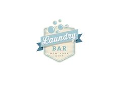 Retro Logo Design by +four for Laundry Bar #POTD99 07.09.2013 #bubbles #badges