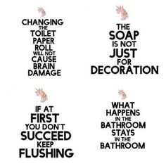 funny printable bathroom signs
