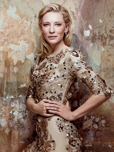 Cate Blanchette in Prada. From the Archives: Golden Girls in Vogue (=)