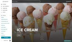 Notey - www.notey.com - Ice Cream Topic Page  #ui #ux #webdesign