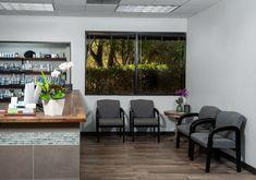 peaceful and healing waiting room