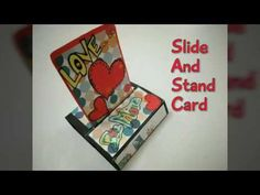 Slide And Stand Card Tutorial Fancy Fold Cards, Folded Cards, Pull Up Stand, Squash Card, Tarjetas Pop Up, Diwali Craft, Bday Cards, Card Making Techniques, Pop Up Cards