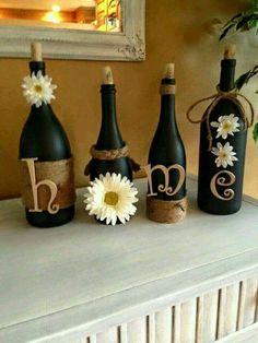 Botella decorada