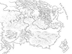The line art map for the Empire of An Ember in the Ashes: