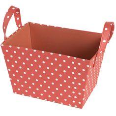 South Shore Coral Polka Dot Storage Basket