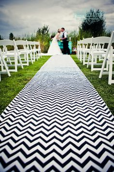 Black and white chevron stripe aisle runner. This would be cool for my style