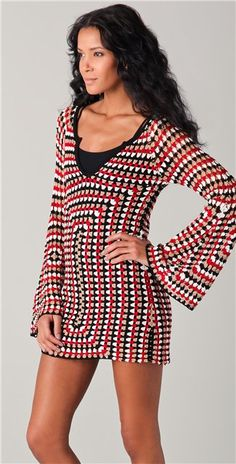 Crochetemoda: Túnica ou míni vestido de crochet