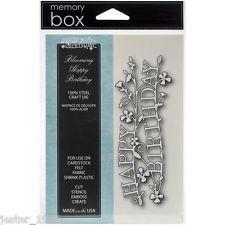 Memory Box Die - BLOOMING HAPPY BIRTHDAY - MB99096 - Free UK P&P