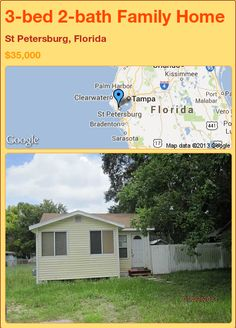 3-bed 2-bath Family Home in St Petersburg, Florida ►$35,000 #PropertyForSale #RealEstate #Florida http://florida-magic.com/properties/74998-family-home-for-sale-in-st-petersburg-florida-with-3-bedroom-2-bathroom
