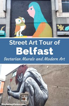 See sectarian, edgy and political street art in Belfast Northern Ireland. Black Cab Tour | Self Guided tour | The Troubles | Peace Wall | Travel #ireland #northernireland #streetart #belfast #murals
