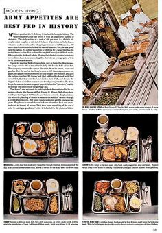 Army appetites are best fed in history. 1940s