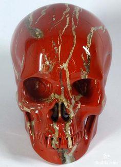Red Jasper Crystal Skull | it reminds me of London kinda? Sorry I like London