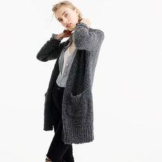Pre-order Collection rib-trim cardigan sweater in merino wool blend