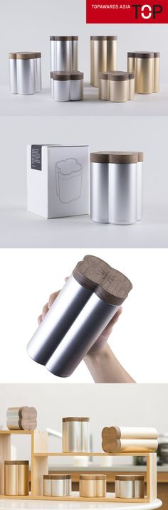 "Outstanding in Functionality | Beverage  ""The Innovative Precious Tea Can, made of aluminium extrusion with wooden  lid, provides seamless finishing to preserve the flavor of the tea.  The concept is to design a premium yet sustainable packaging that would  reflect the extraordinary taste and quality of the deluxe Agarwood tea. The  tea container is designed to be a long-lasting piece where users can refill  their tea.  The design addresses the following aspects: sustainability, cultural..."