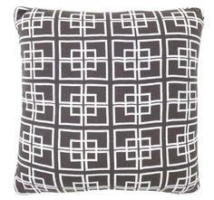 DG37 Delta Knit 50x50cm Filled Cushion Charcoal