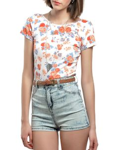 #Top cropped flores Double Agent 9,99€ www.doubleagent.es #fashion #clothes #ropa