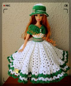 crocheted barbie doll clothes Popular Craft & Patterns for Everyone Crochet Barbie Patterns, Crochet Doll Dress, Crochet Barbie Clothes, Doll Clothes Barbie, Knitted Dolls, Barbie Dress, Barbie Doll, Crochet Ideas, Habit Barbie