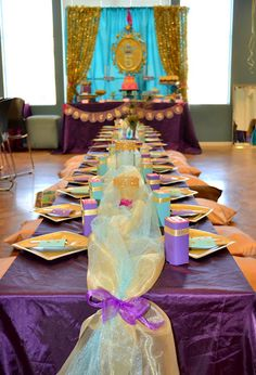Inspired Mama: Princess Jasmine Birthday Party Share your best! Jasmin Party, Princess Jasmine Party, Disney Princess Party, Princess Birthday, Aladdin Birthday Party, Aladdin Party, Birthday Bash, Birthday Parties, Tangled Birthday