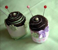 Sweet Lolita Accessories and Art: Cupcake / Teacup Pincushion Tutorial