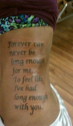 Marry Me by Train lyrics that I got tattooed on my side last summer.