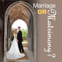 Marriage or Matrimony?:   People call a lot of relationships 'marriage'. Everything from cohabitation (common law marriage) to civil contracts (secular marriage) to the Judeo-Christian concept of covenant. In a Christian marriage there is a desire for the marriage to be open to the Lord and a willingness to look to scr...  - http://smartloving.org/marriage-or-matrimony/ http://smartloving.org/wp-content/uploads/2012/08/Marriage-or-matrimony.jpg