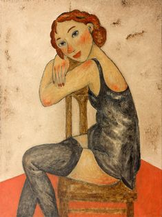 Original Art with Art Deco touch. Oil painting on canvas with red-haired woman in black stockings and a black silk lingerie sitting on a chair.#art #figurative #girl #redhiared #stockings #black Figure Painting, Oil Painting On Canvas, Canvas Art, Original Paintings, Original Art, Classic Theme, Black Stockings, Colorful Paintings, Russian Art
