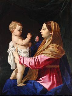 Madonna della rosa // Simone Cantarini // Collezione privata, Reggio Emilia // #ChildJesus #VirginMary