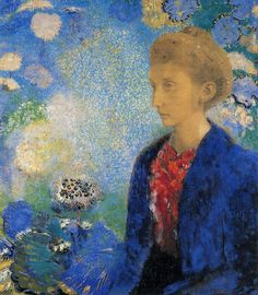 Painted by Odilon Redon ..  Madame de Demecy