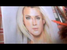Desenho Realista Com Lápis de Cor Comum - YouTube