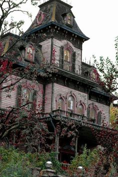 Pink Victorian Abandoned Buildings, Old Abandoned Houses, Abandoned Castles, Old Buildings, Abandoned Places, Old Houses, Pink Houses, Dream Houses, Beautiful Buildings