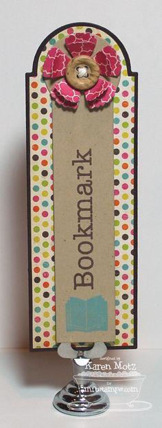 8/4/2012; Karen Motz at 'Paper Playhouse' blog; MFT Bookmark Duo Stamps and Die-namics
