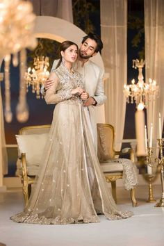 Maria B Couture Latest Fancy Formal Wedding Dresses Flowy Prom Dresses, Pakistani Formal Dresses, Pakistani Wedding Outfits, Wedding Dresses For Girls, Formal Dresses For Weddings, Bridal Wedding Dresses, Girls Dresses, Formal Wedding, Designer Dresses For Wedding