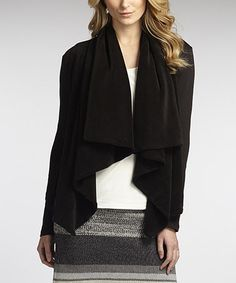 Look at this #zulilyfind! Black Eco Plush Organic Cardigan #zulilyfinds