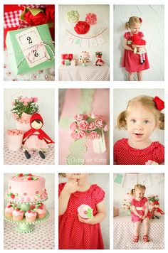 Cute style, love the color combos - very Strawberry Shortcake-esque!